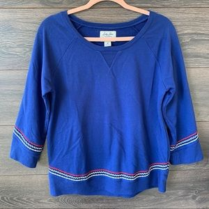 LUCKY BRAND | Blue Scottsdale Embroidered Sweater